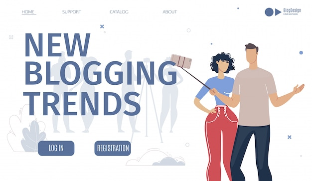 ブログトレンド分析サービスのウェブページ