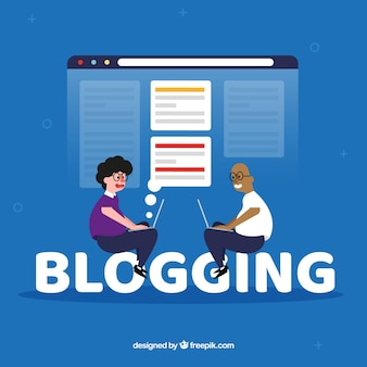 Blogging word concept