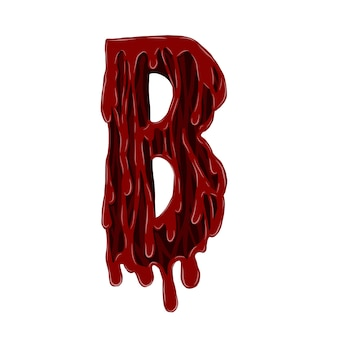 Blood alphabet vector by hand drawing