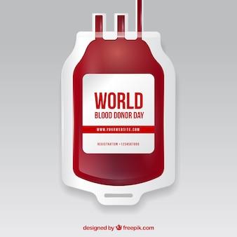 Blood bag background for donor day