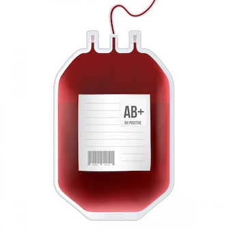 Blood bag with type