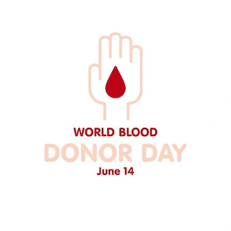Blood donation background of hand with a drop