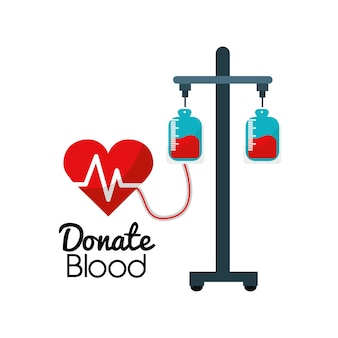 Blood donation campaign icon