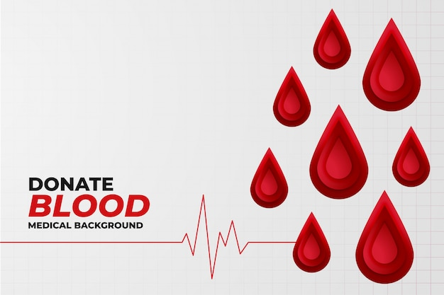 Blood donation concept background with heartbeat line