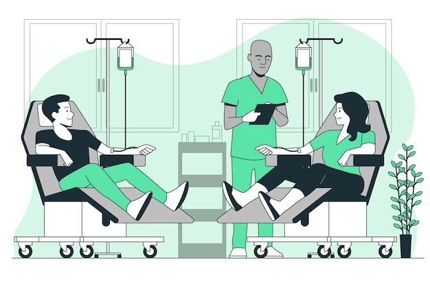 Иллюстрация концепции донорства крови