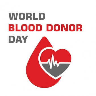 Blood donation day background