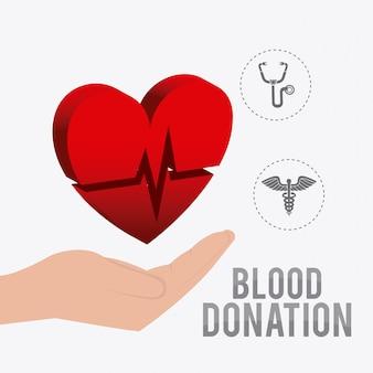Blood donation design.