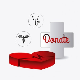 献血デザイン。