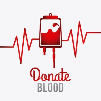 Blood donation design.