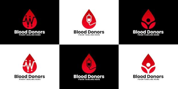 Коллекция вдохновения для дизайна логотипа донорства крови