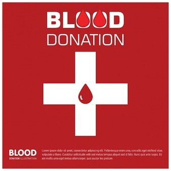 Blood donation red background
