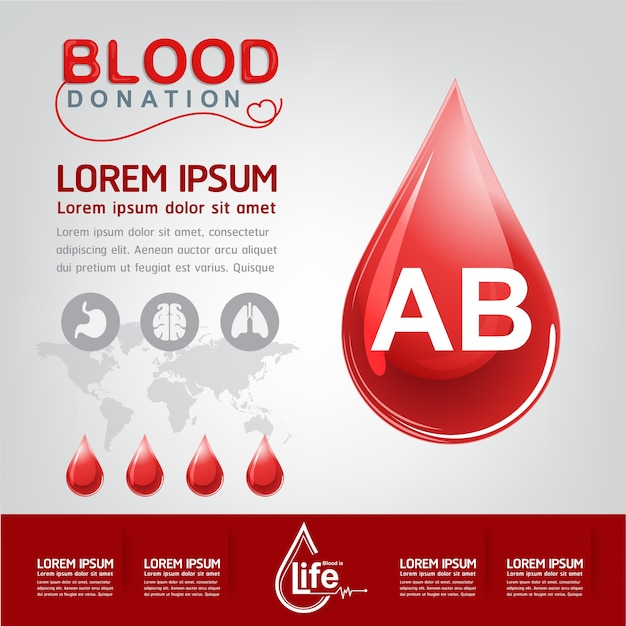 Blood donation vector concept - hospital to begin new life again