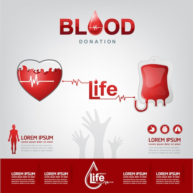 Blood donation vector concept