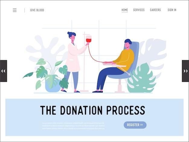 헌혈 은행 자선 단체, 자원 봉사자, 수혈, 웹 사이트 방문 페이지, 간호사