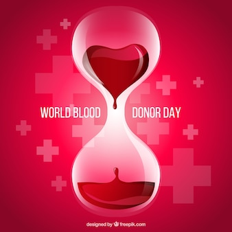 Blood donor day background