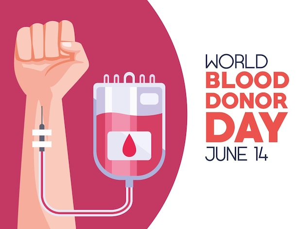 Blood donor day card
