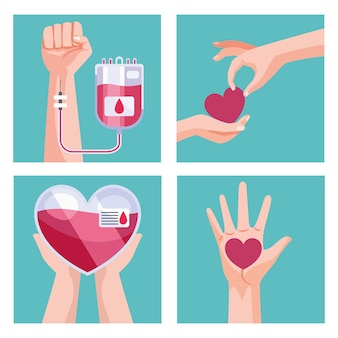 Blood donor elements