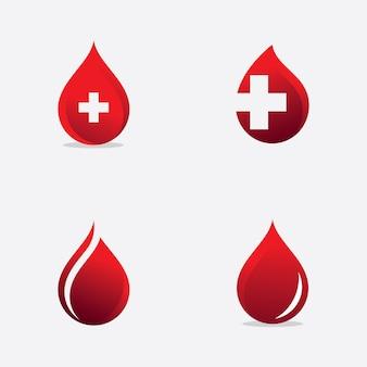 Значок доноров крови, векторная иллюстрация логотипа крови