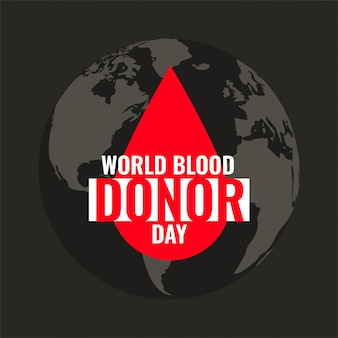 世界の献血者デーの血ドロップ背景