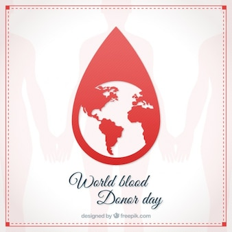 Blood droplet with the earth card