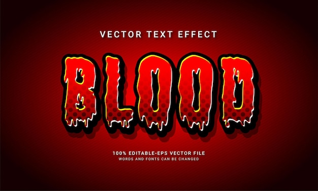Blood editable text style effect with halloween event theme