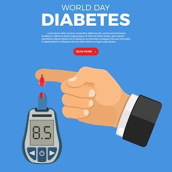 Глюкометр и палец с мониторингом капель крови и диагностикой диабета Premium векторы