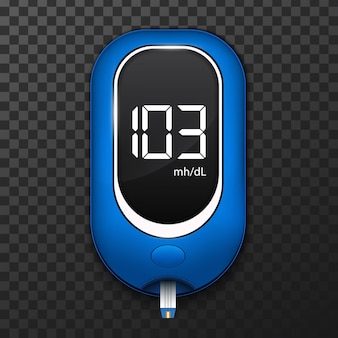 Blood glucose meter test, diabetes glucometer.