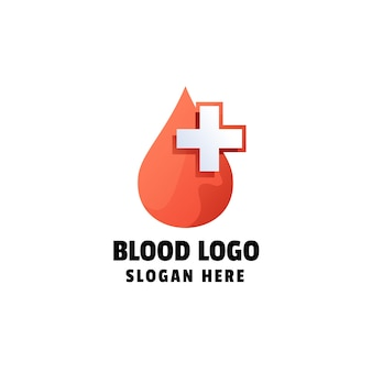 Blood gradient logo template