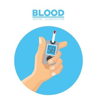 Blood hand diabetes test
