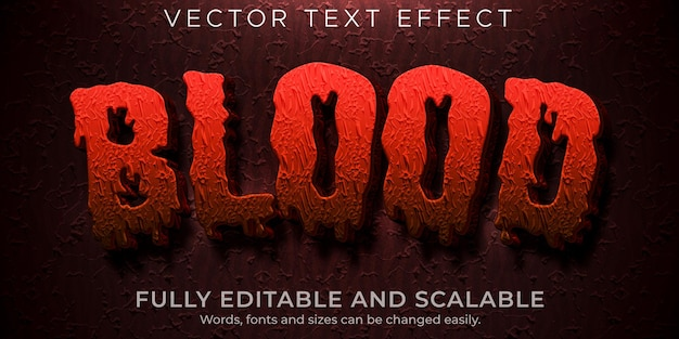 Blood horror text effect editable scary and red text style