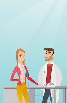 Blood pressure measurement vector illustration.