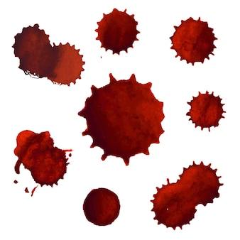 혈액 얼룩 큰 세트 그림