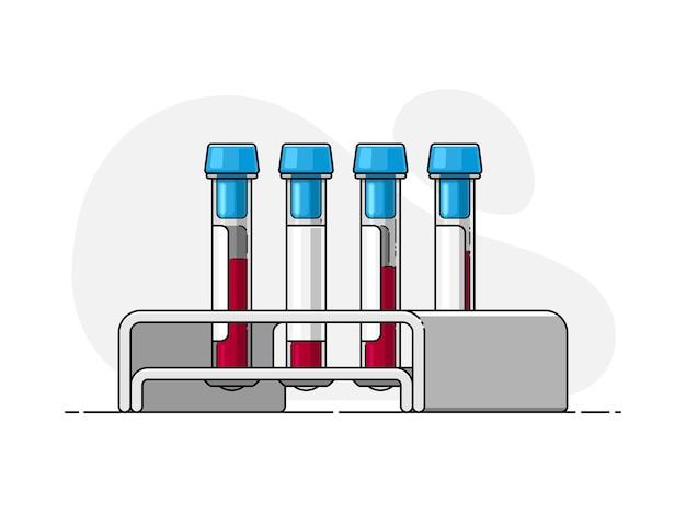 Пробирка для анализа крови со штативом