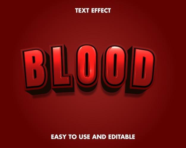Blood text effect. editable font style. Premium Vector