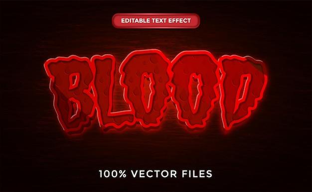 Blood text effect premium vector