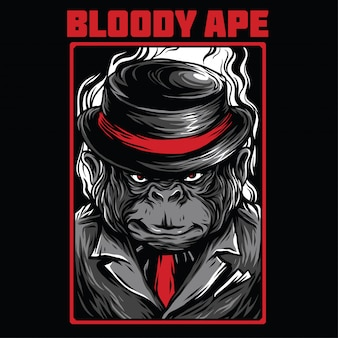 Bloody ape illustration