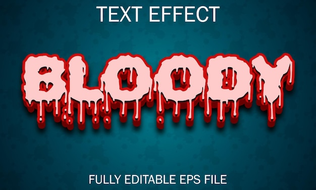 Bloody dripping text effect