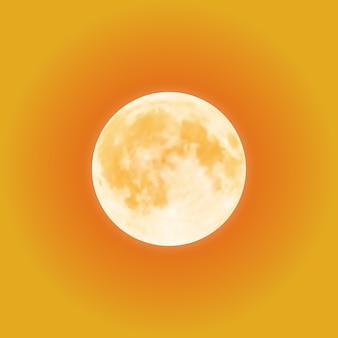 오렌지 밤 하늘 위에 피 묻은 보름달