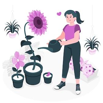Illustrazione di concetto di fioritura