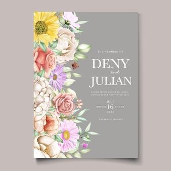 Set di carte invito primavera floreale in fiore