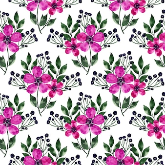 Blooming florals repeat pattern