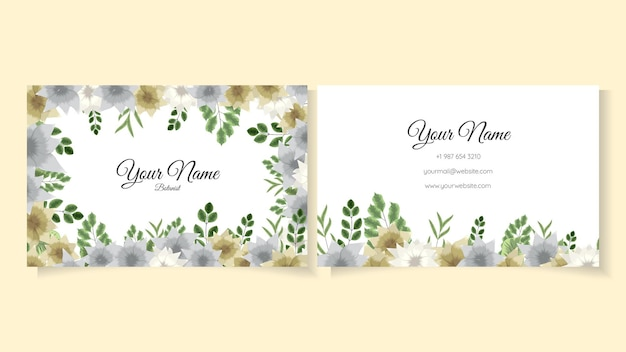 Blooming flower background template with cute floral elements design