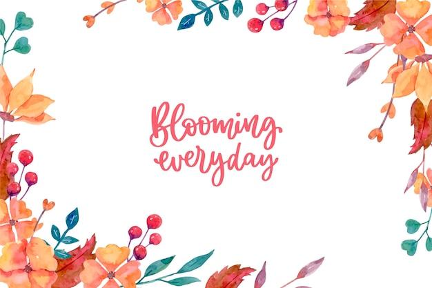 개화 꽃 배경 디자인