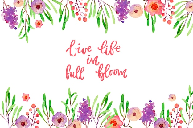 Blooming flowers background style