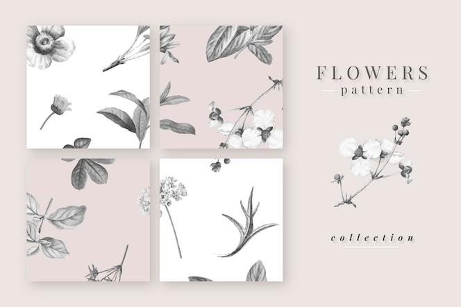 咲く花柄コレクション