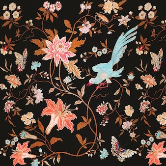 개화 꽃 패턴