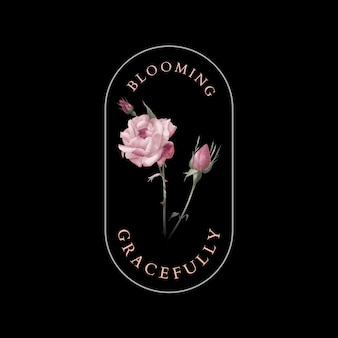 Blooming gracefully badge