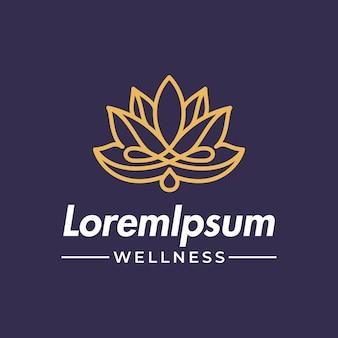 Blooming lotus flower with water or oil drop