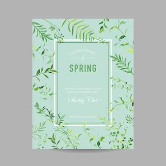 Цветущая весна и лето цветочная рамка с тропическими листьями