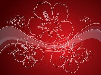 Blossom curve deep red swirls vectors